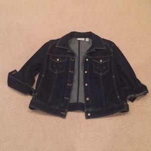 Chicos Jean jacket Size 1 Size 6-8